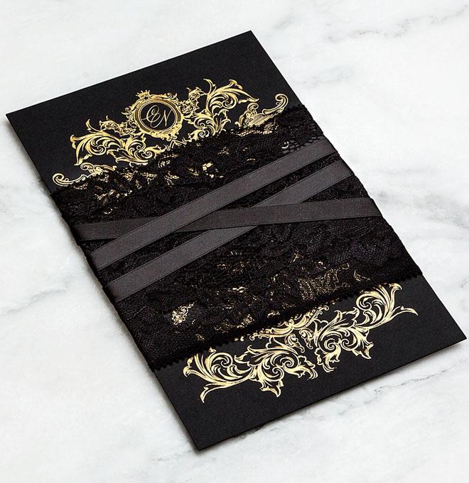 Свадебные приглашения черного цвета