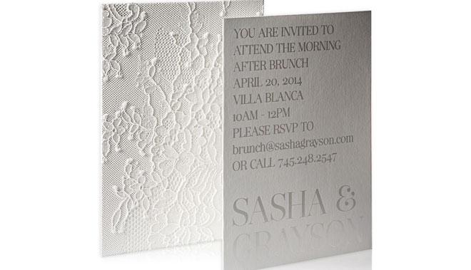 минимализм в свадебных приглашениях