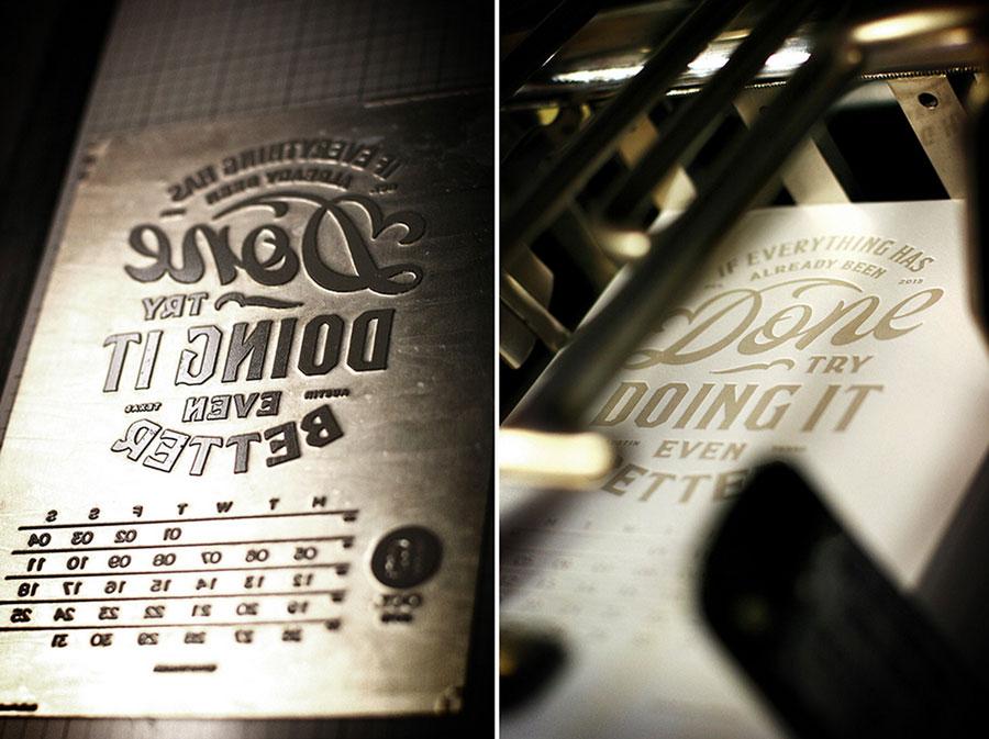 Календарь 2015, типографика от Fabien Barral
