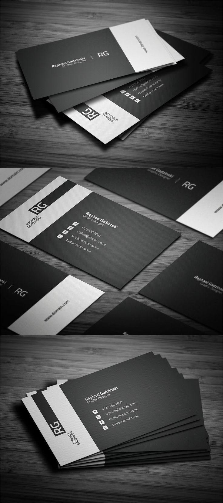 черно-белые двухсторонние визитки