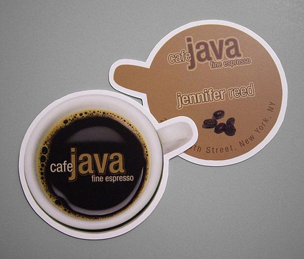 визитки для кофейни