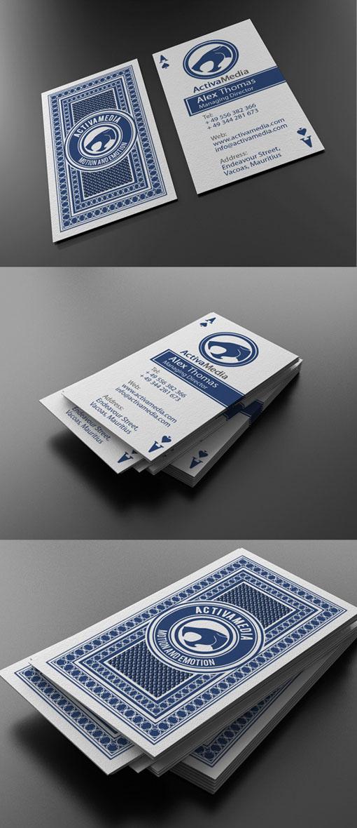 дизайнерские визитки двухсторонние