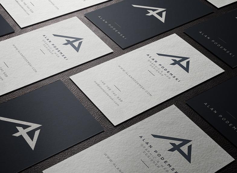 минималистичные визитки
