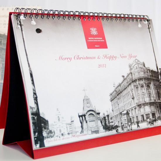 настольный перекидной календарь-домик для гостиницы Националь