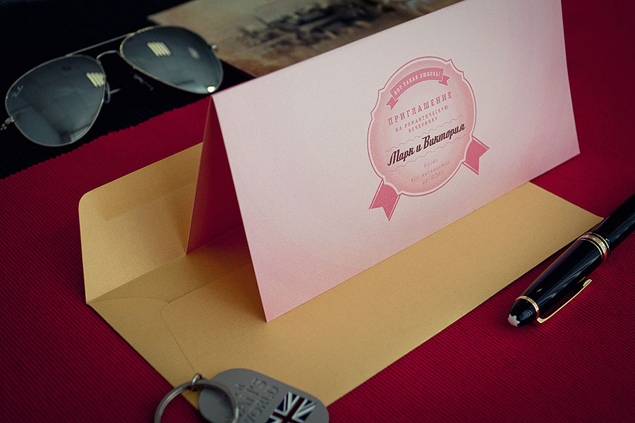 дизайн и печать свадебных приглашений