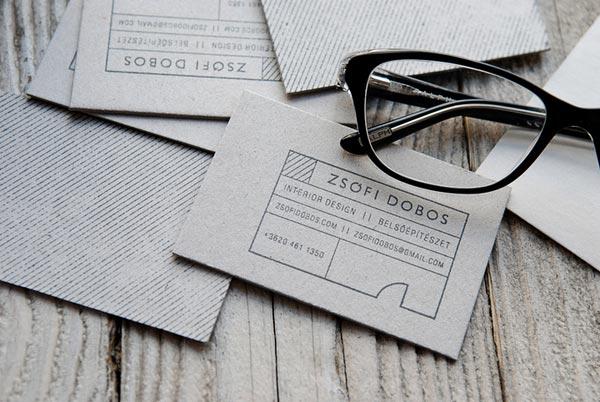 дизайнерские визитки: размер