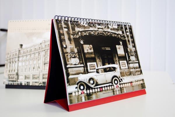 дизайн настольных календарей