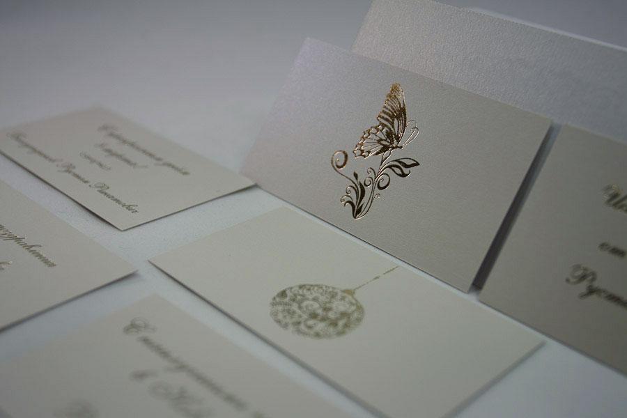 разработка дизайнерских визиток, изготовление