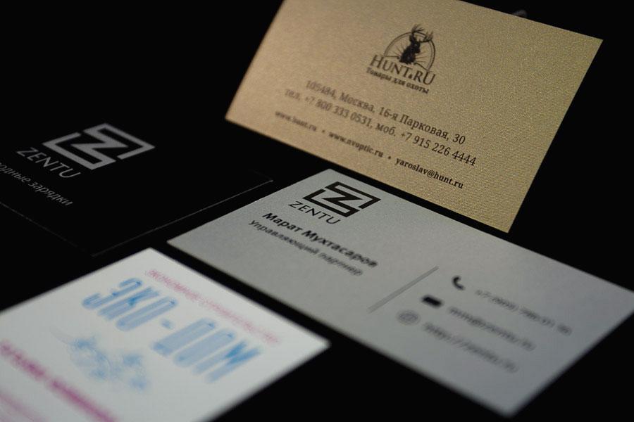 макеты дизайн визитных карточек, шелкография, тиснение