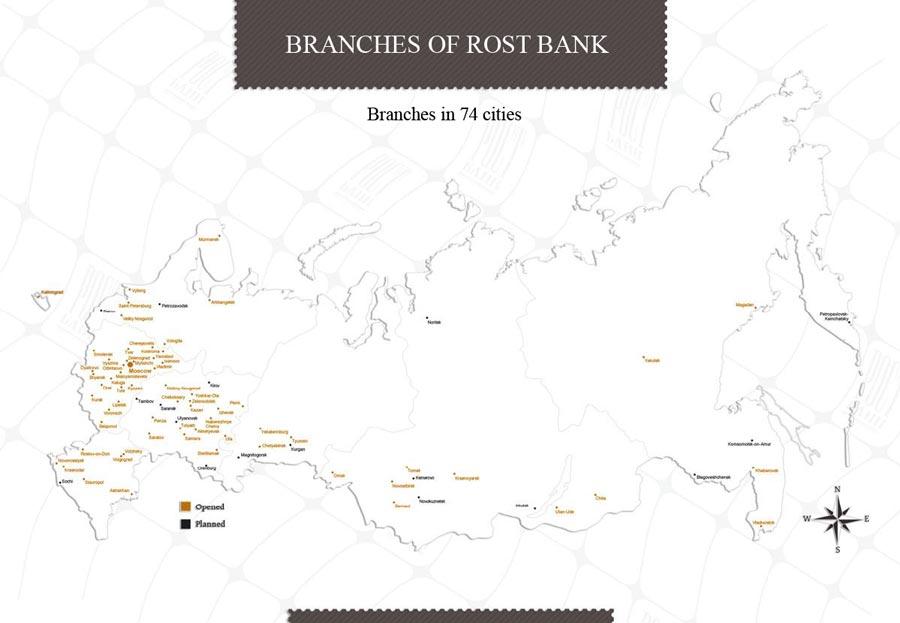 презентация для банка: слайд с картой