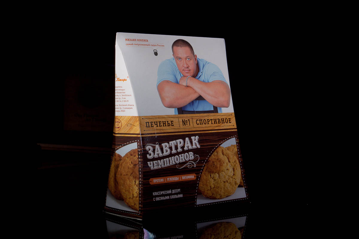 """разработка упаковки для печенья """"Завтрак Чемпионов"""""""