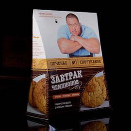 Дизайн упаковки спортивного печенья