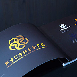 отпечатанный брендбук строительной компании