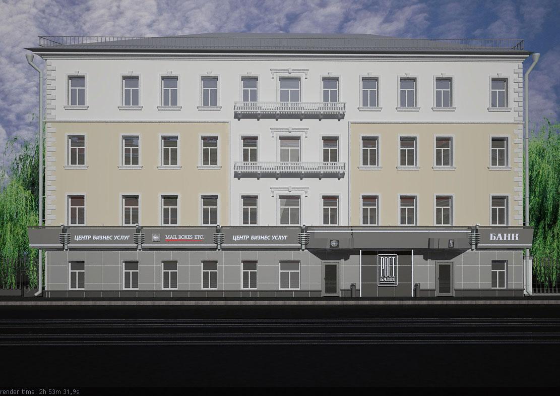 фасад банковского здания на Васильевском острове