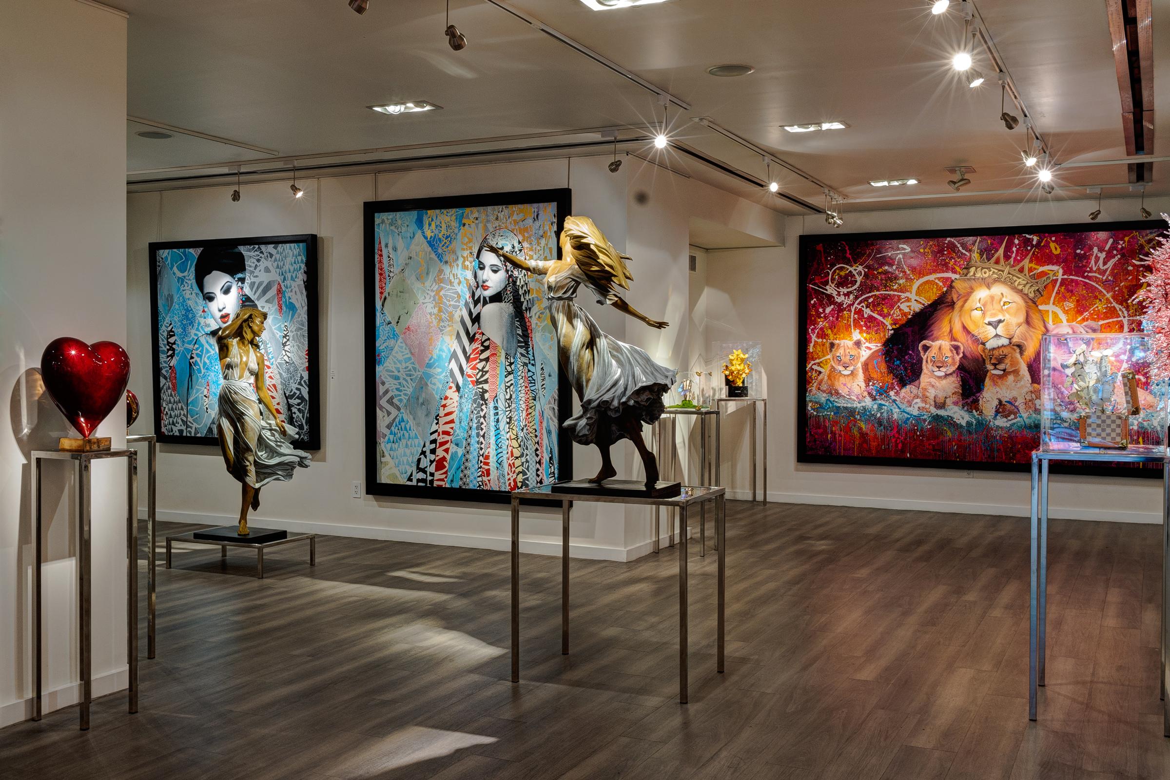 фото и видео съемка в интерьере картинной галереи в Нью-Йорке