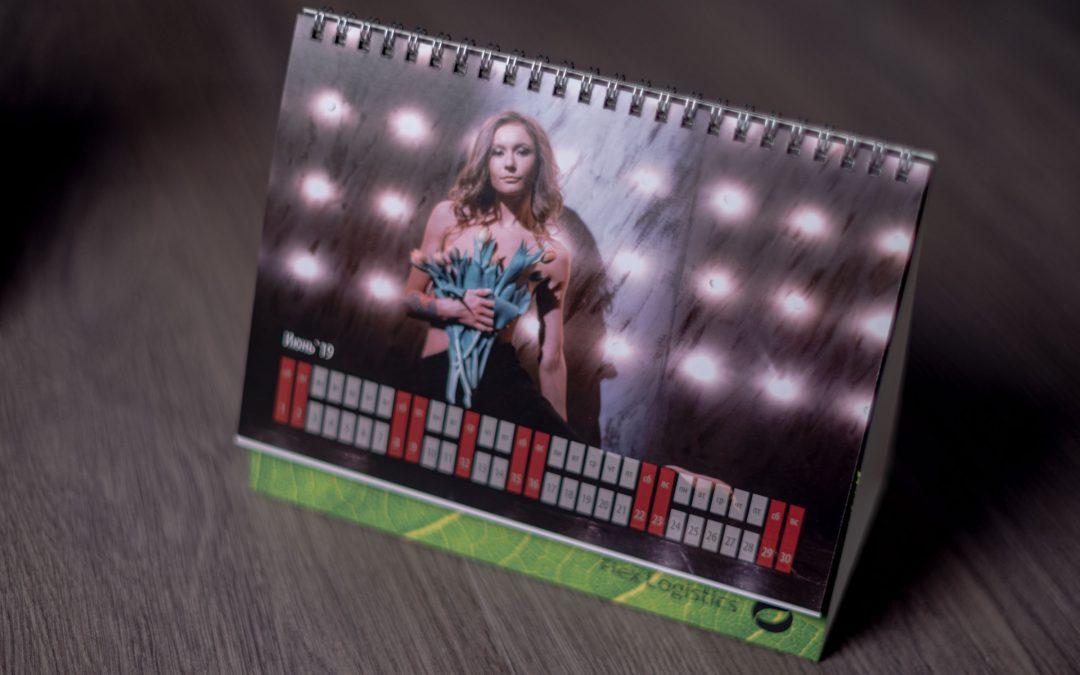 Разработка настольного календаря. Фотосъемка.